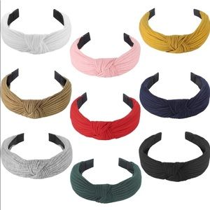 9 Cross Knot Headbands With Solid Colors